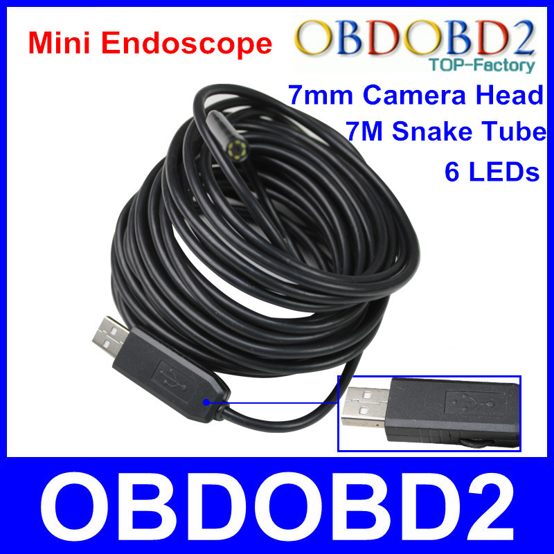 Гаджет  Waterproof Borescope USB Inspection Camera Endoscope 7M Snake Tube Investigate Hard To Reach Area Diagnose Machine Equipment None Безопасность и защита