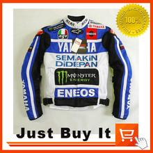 New Desigen Monster Style bleu et blanc moto haute Performance qualité hommes Rider veste pour Yamaha blousons