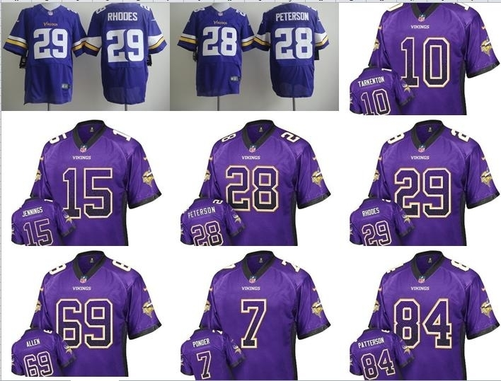 NO-1 New Arrivals Free shipping Best quality Minnesota Vikings all players 23 style size S-XXXL(China (Mainland))