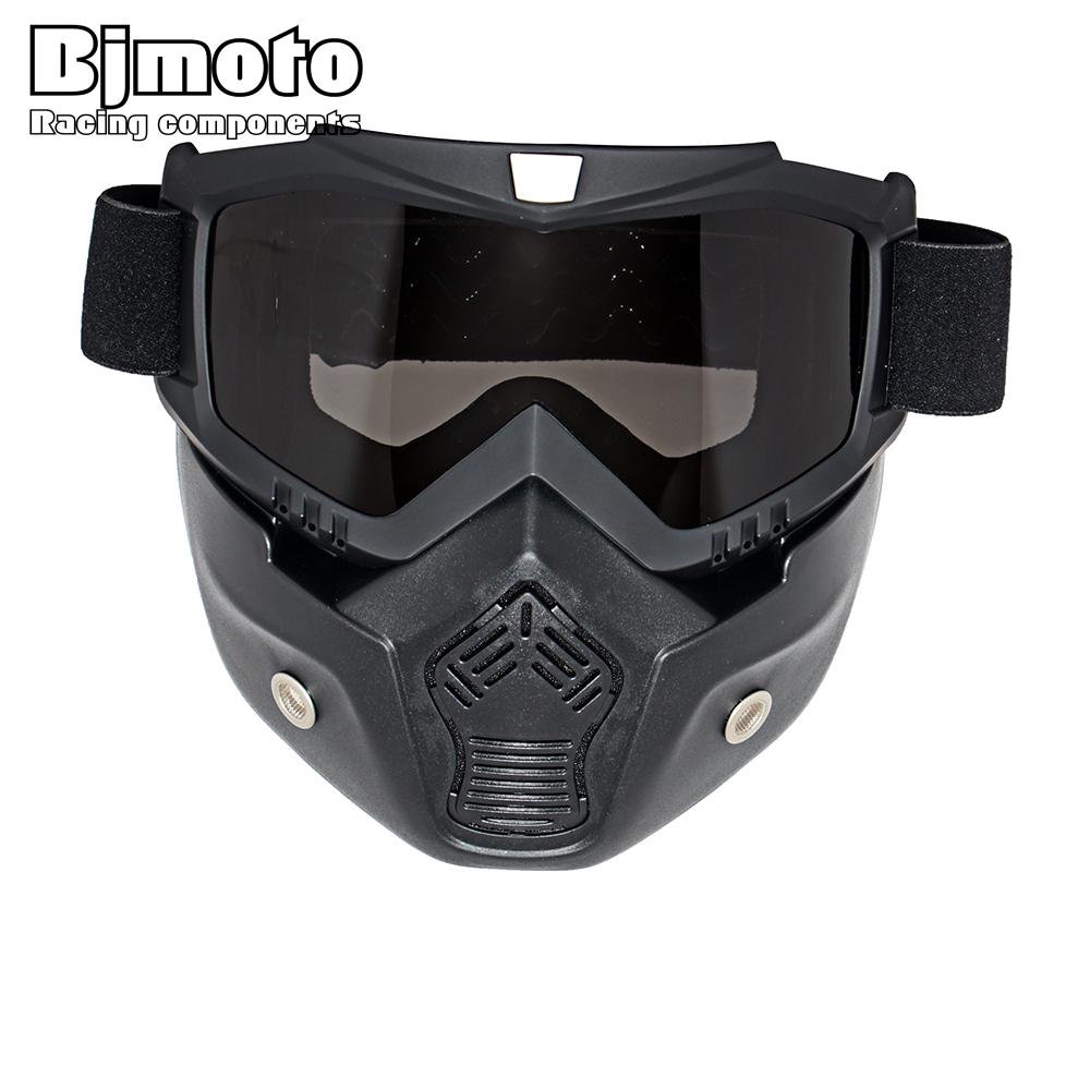 Motocross Goggles Glasses font b Face b font Dust font b Mask b font With Detachable