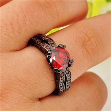 Vintage Style Ruby Jewelry Four Double Claw Ring Size 6 7 8 9 10 Red CZ