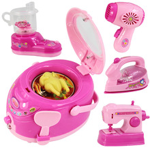 Small Size Pretend Play Toys Home Appliance Classic Kitchen Kids Toys For Children toy Mini Educational Toys Set Gift For Girls(China (Mainland))