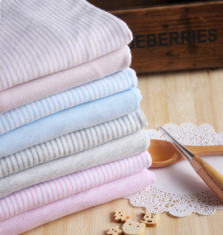 70% Bamboo 30% Cotton fiber bamboo fabric organic Antibacterial Stripe knitting jersey fabric for t-shirt jersey Bedclothes baby(China (Mainland))