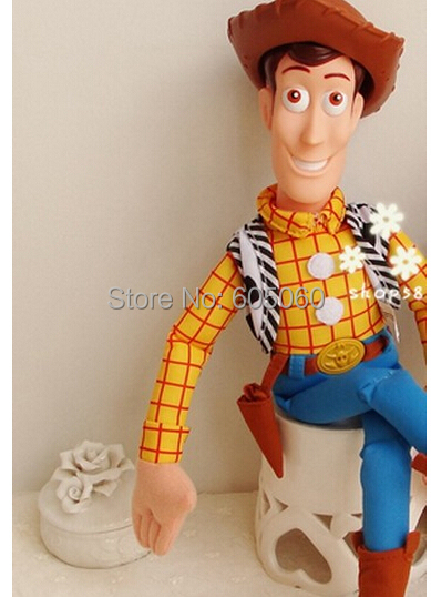 45cm Toy Story WOODY Action Woody Toy figure PP Cotton Plush Model Toys For Children Christmas Gift Free Shipping(China (Mainland))