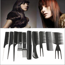10pcs Professional Hair Combs Kits Salon Barber Comb Brushes Anti-static Hairbrush Hair Care Styling Tools Set(China (Mainland))