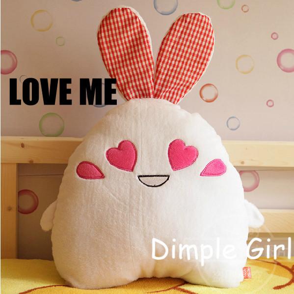 B-2B,35cm,Kawaii Funny Doll,Cute Rabbit Stuffed Animal With Big Eyes,For Girlfriend Valentine's Day Gift(China (Mainland))