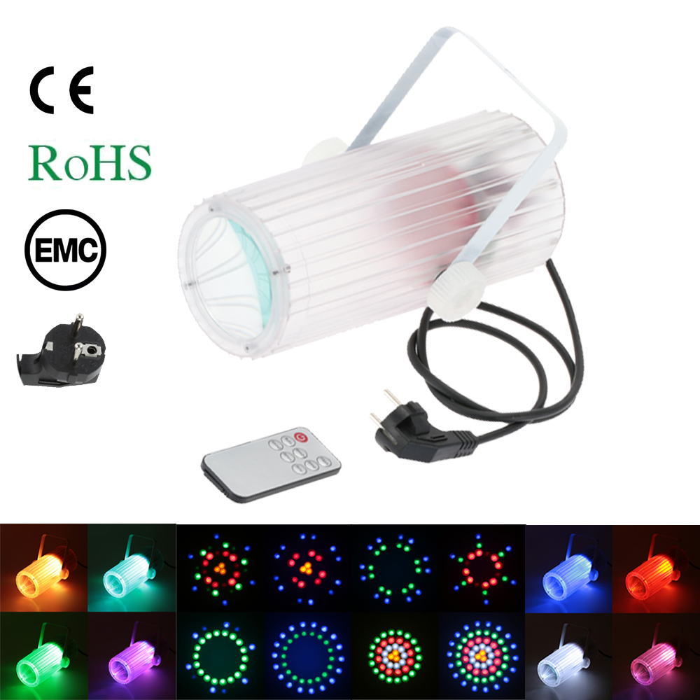 LIXADA 60LED 20W RGBWA LED Stage Lamp Beam Light Moon Flower Effect Support Auto Run Sound Activation for KTV Disco Club Bar(China (Mainland))