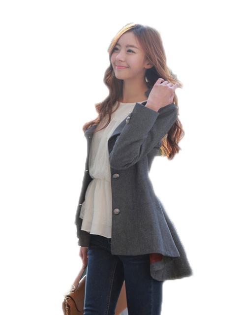 2016 Женщин Корейской Осень Новый Смокинг Шерстяные Пальто WCB0022