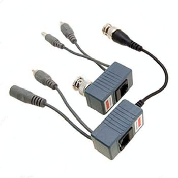 Power Video Balun UTP Network Transceiver CCTV Camera twisted-pair