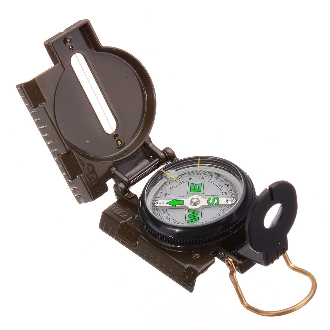 3 1 portable Army Green Folding Lens Compass Military Outdoor Hiking Camping Lens Survival Lensatic compass