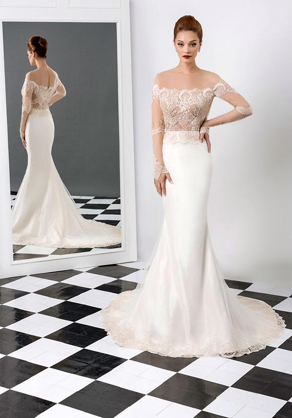 Long sleeve fitted mermaid satin wedding dress 2015 sexy for Fitted mermaid wedding dresses