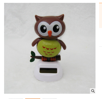 Retail Packing Swing Under Full Light Solar Powered Energy Toys Novelty Home&Car Decoration Happy Dancing Solar Owl(China (Mainland))