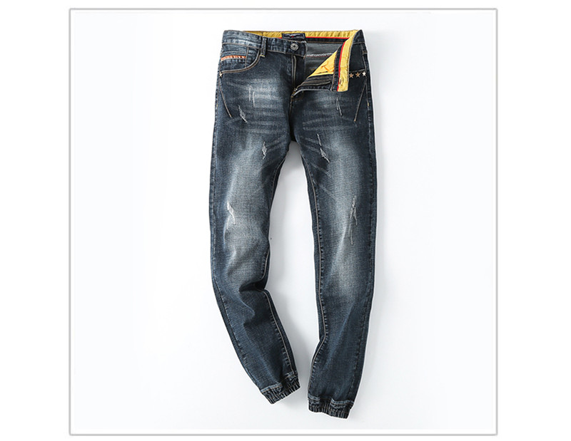 2016 Plus Size New Brand Men Jeans Straight Washed ALL Match Mid Waist Causal Fashion Long Denim Trousers(China (Mainland))