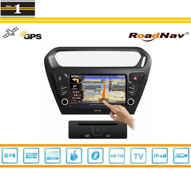For Citroen C-Elysee 2012~2015 - Car GPS Navigation System + Radio TV DVD BT iPod 3G WIFI HD Screen S100 Multimedia System(China (Mainland))