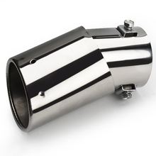 2015 Universal Car Vehicle Car Exhaust Muffler Stainless Steel Tail Pipe Chrome Trim Decorative Tip exhaust pipe New #HP(China (Mainland))
