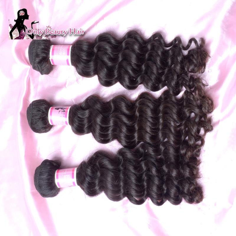 High Quality Cheap Unprocessed Virgin Brazilian Hair Can Be Ironed Brazilian Deep Wave Virgin Hair Brazilian Hair Free Shipping(China (Mainland))