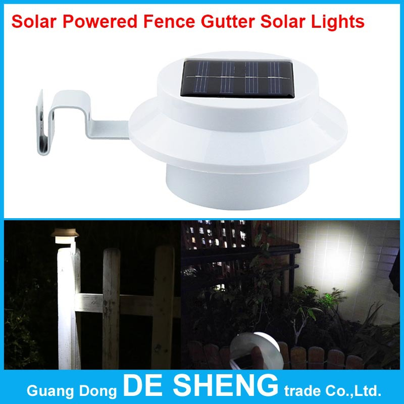 Гаджет  New Arrival! 3 leds light sensor control Solar Powered Fence Gutter Solar Lights, Outdoor Security Solar Lamps free shipping None Свет и освещение
