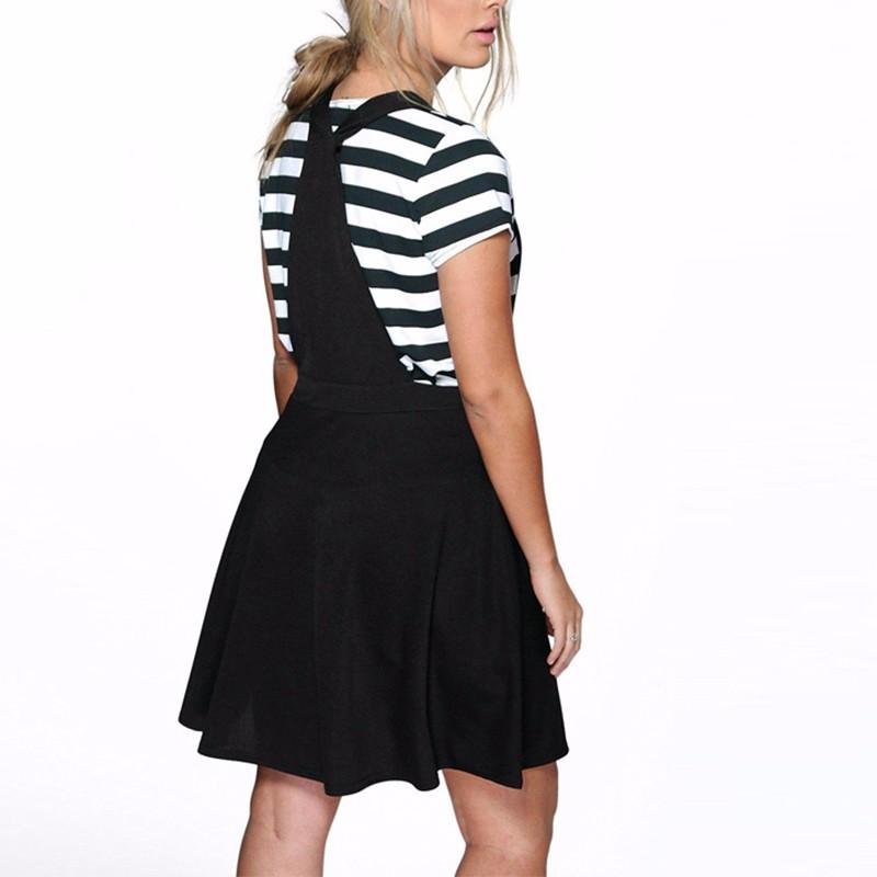 Kissmilk Plus Size New Fashion Women Casual Big Size Pleated Overalls Slim Short Suspender Skirt 3XL 4XL 5XL 6XL