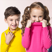 Autumn Winter Turleneck Children Sweater 10 Solid Colors Girls Sweater Boys Pullover Shirt Child Cardigans for girls 2-10T