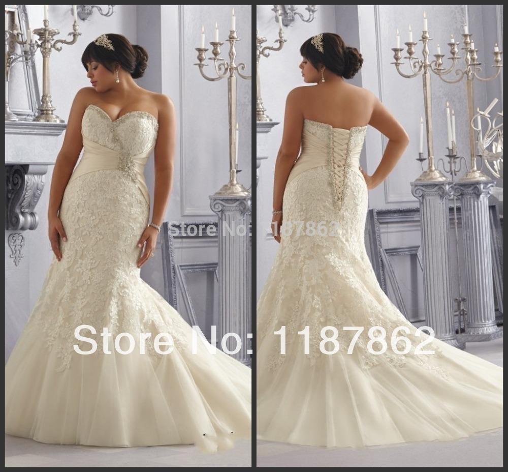 Wd 0256 real sample plus size wedding dress 2014 mermaid for True mermaid wedding dresses