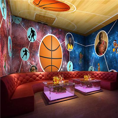 World Cup soccer star NBA basketball star theme wall paper KTV bar club living room background wall murals(China (Mainland))