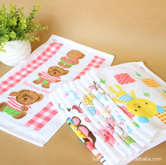 Случайно вещи ребенка 100% хлопка полотенца милый мультфильм детское лицо полотенце ...