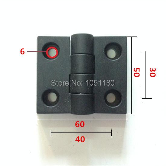 5PCS/SET 50mm *60mm * 10mm industrial aluminum accessories ABS plastic corners nylon hinge cabinet hinge free shipping(China (Mainland))