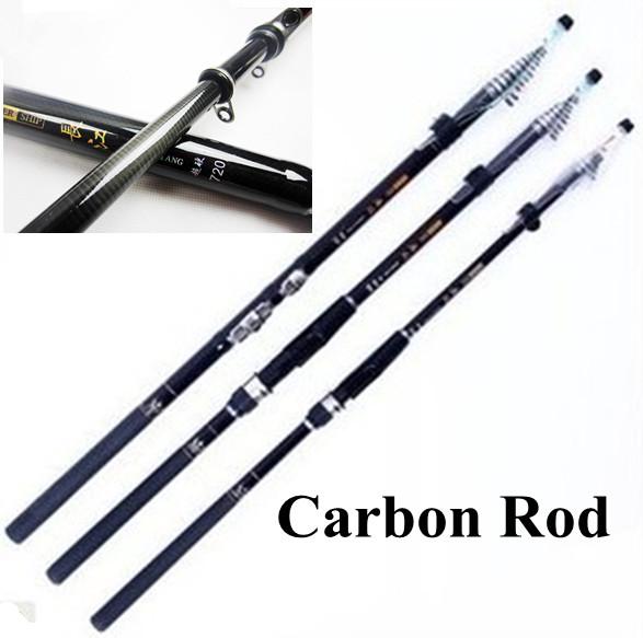 Quality 7.2m Fishing Rods Carbon Telescopic Rods Spinning Fishing Tackle Quality Fishing Equipment 6.3M 5.4M 4.5M 3.6M(China (Mainland))