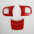 3PCS Lot ABS Red Steering Wheel Trim Sticker Sequins Trim For Jeep Wrangler 2011 2015 For