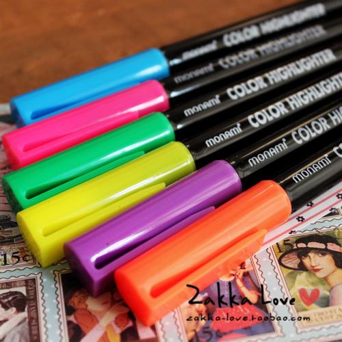 3313 - monami neon pen marker pen crayons 6