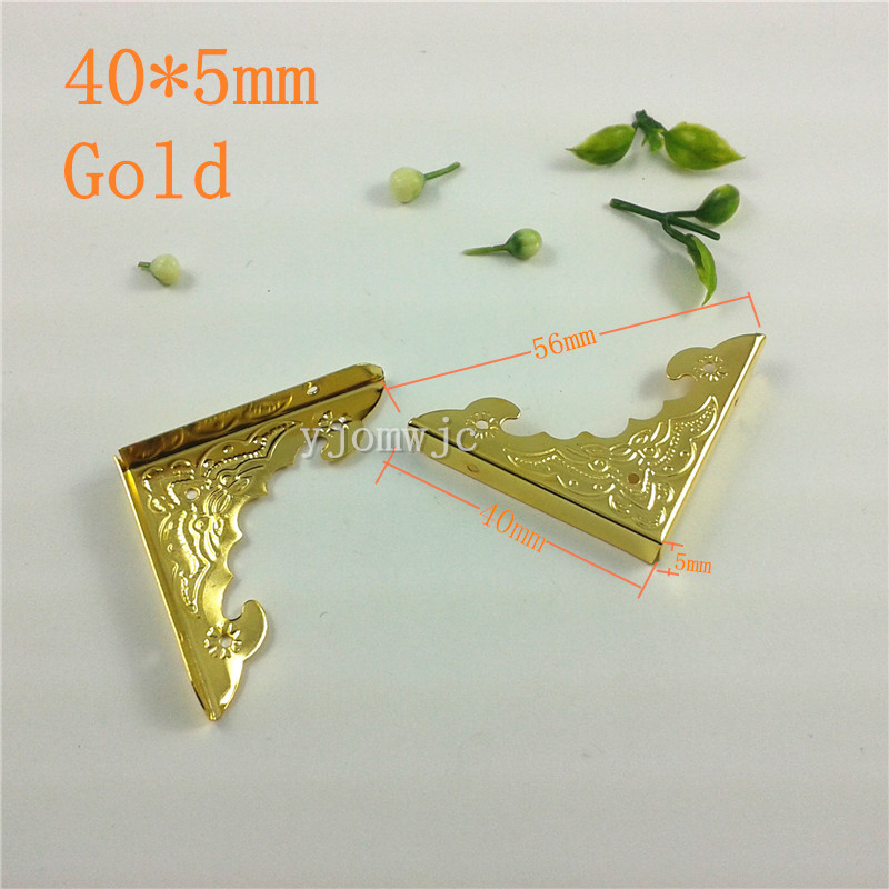 Decorative Box Corner Brass Plated : Shining gold plated decorative protectors corner for