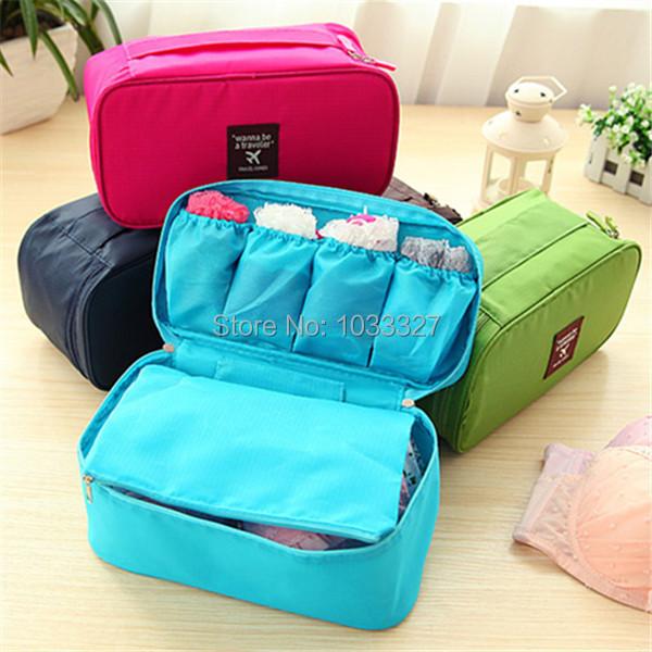 Free shipping Creative portable travel underwear storage bag, Multifunctional Oxford Storage Bins, Cosmetic Cases(Hong Kong)