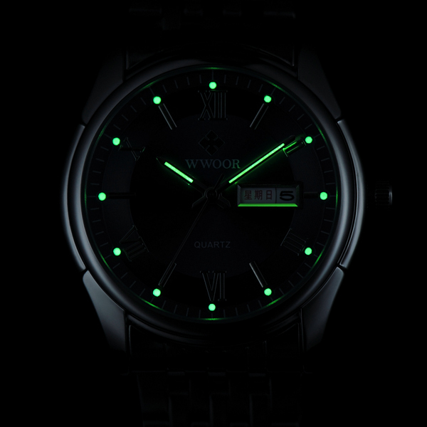 Luxury Brand Men s Watch Auto Date Stainless Steel Relojes Back Light Hours Clock Men Casual