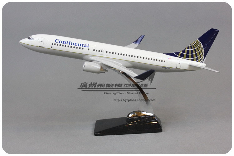 40cm Resin Air American Continental Airlines Plane Model Boeing 737 B737 Airways Aircraft Airplane Model W Stand(China (Mainland))