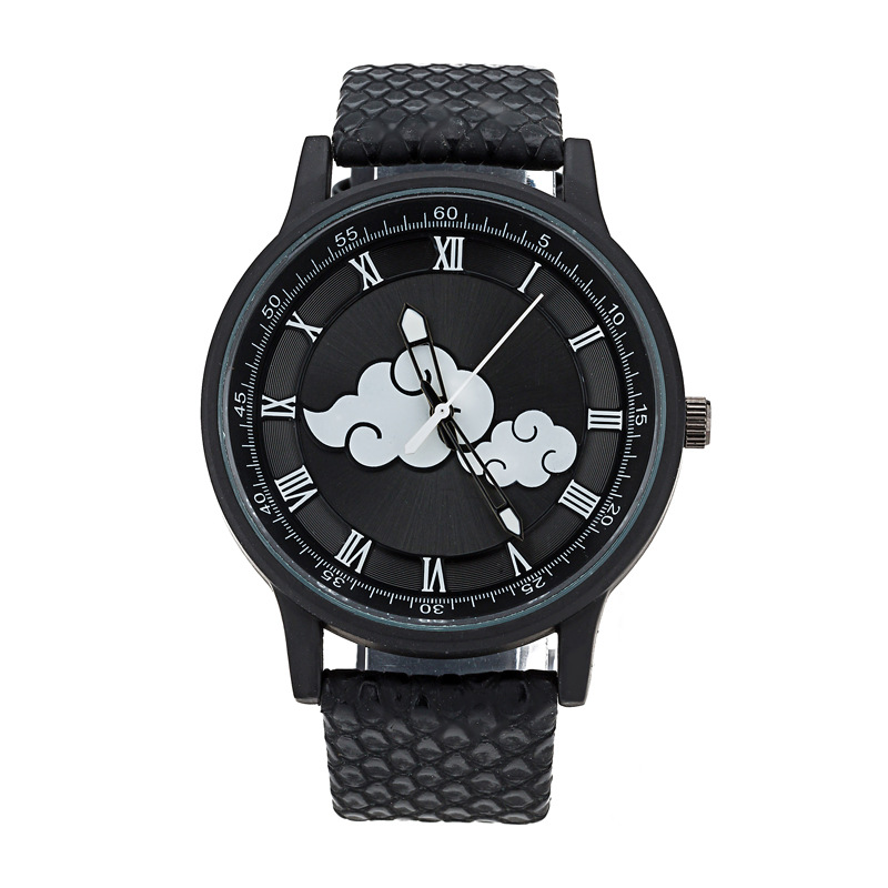 Fashion Man Casual Watches Two Cloud Pattern Black Model Cool School Student Boy's Watch Waterproof Sport Clock High Quanlity(China (Mainland))
