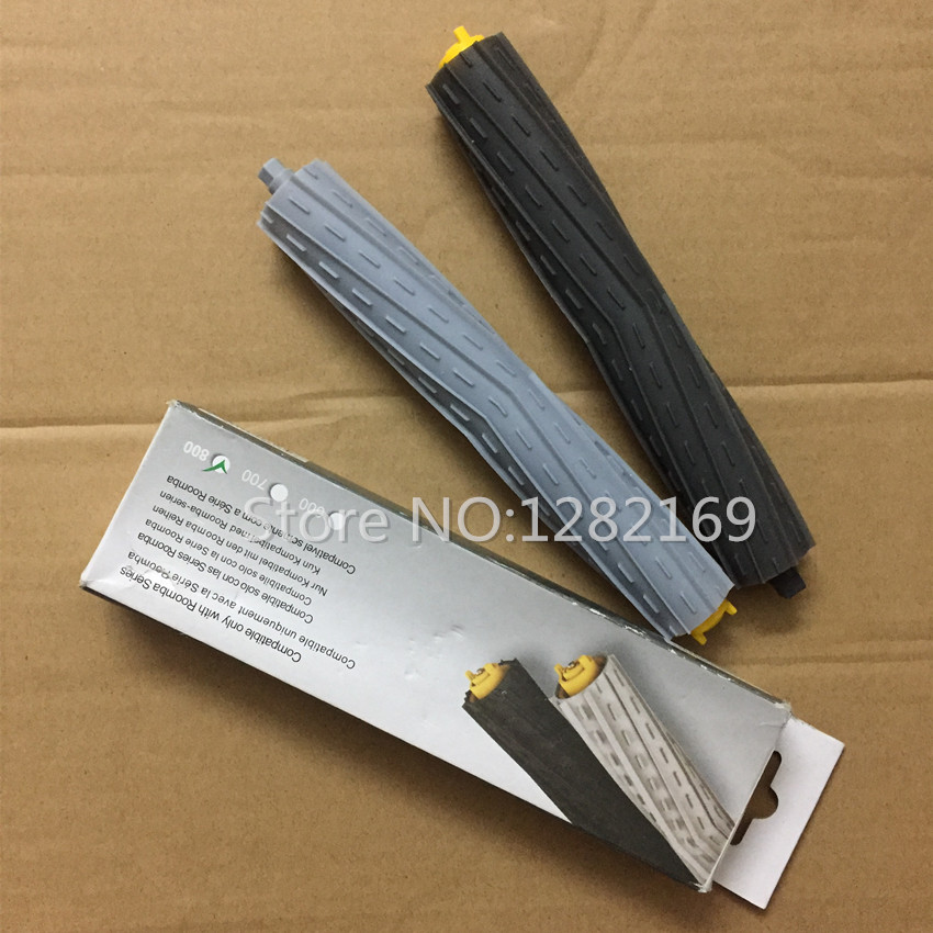 2 pcs/lot Robot Vacuum Cleaner Parts Tangle-Free Debris Extractor Brush replacement for irobot roomba 800 Series 880 870 871 980(China (Mainland))