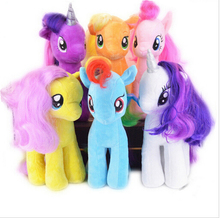 19CM Kids color can choose TV Rainbow MLP little horse plush toys Cartoon Animals Baby Toy for Children Gifts Wedding Gifts toys(China (Mainland))