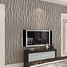 0.53*10m Modern Stripe Wallpaper 3d Stereo Simple Wall Paper Roll Bedroom Wall Covering Wedding Home Decoration Free Shipping(China (Mainland))