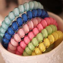 15PCS Girls Telephone Wire Line Gum Cord Elastic Ring Ponytail Holders Hairband Headband Hair Rope Gum For Hair Styling(China (Mainland))