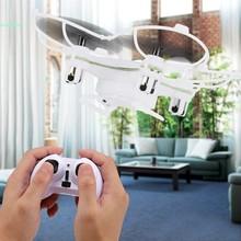 Mini RC Quadcopter Drone Headless Mode 2.4G 4CH 6 Axis Gyro LED Lights White 66