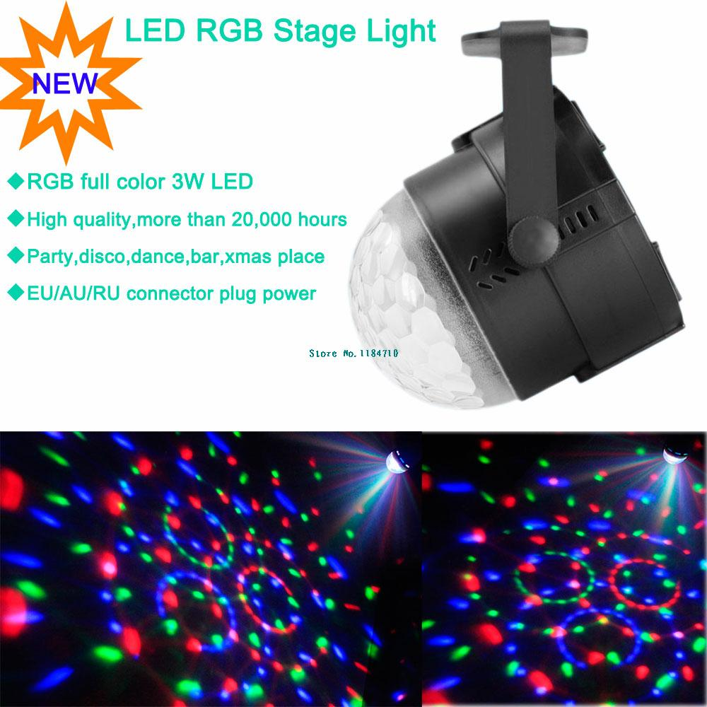 new 2014 mini RGB 3w LED Projector DJ lighting Light dance Disco ball bar par Party Xmas effect Stage Lights Show B32 free ship(China (Mainland))