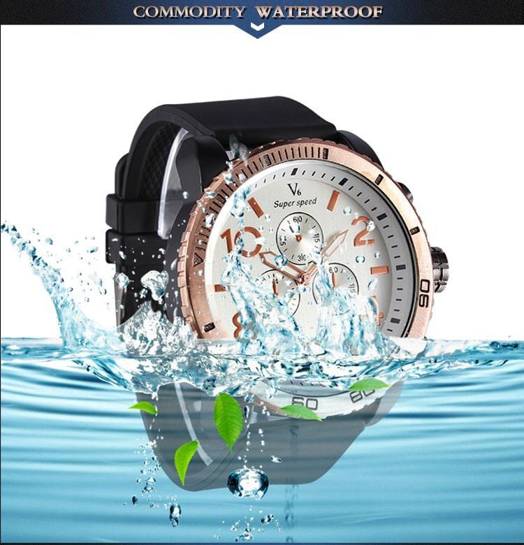 V6 2015 Новая Мода Спортивные Часы Роскошные Часы Случайные Часы Военные Кварцевые Часы Relogio Masculino Часы Часы саат
