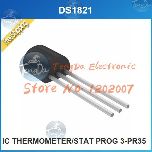 Free Shipping 5PCS/lot DS1821 IC THERMOMETER/STAT PROG 3-PR35 1821 S1821(China (Mainland))