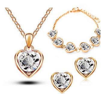 Heart Shaped Jewelry Set