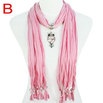 Owl Scarf 2015 Women Accessories Scarves For Ladies, Owl Drop Pendant Scarf  Necklace Jewelry,NL-1618