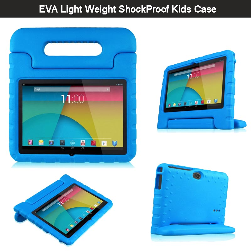 "2 IN 1 3D Kids Friendly Shockproof EVA Case For 7'' Tablet Dragon Touch Y88X / Q88 7"" Cover Handle Convertible Kick Stand Skin(China (Mainland))"