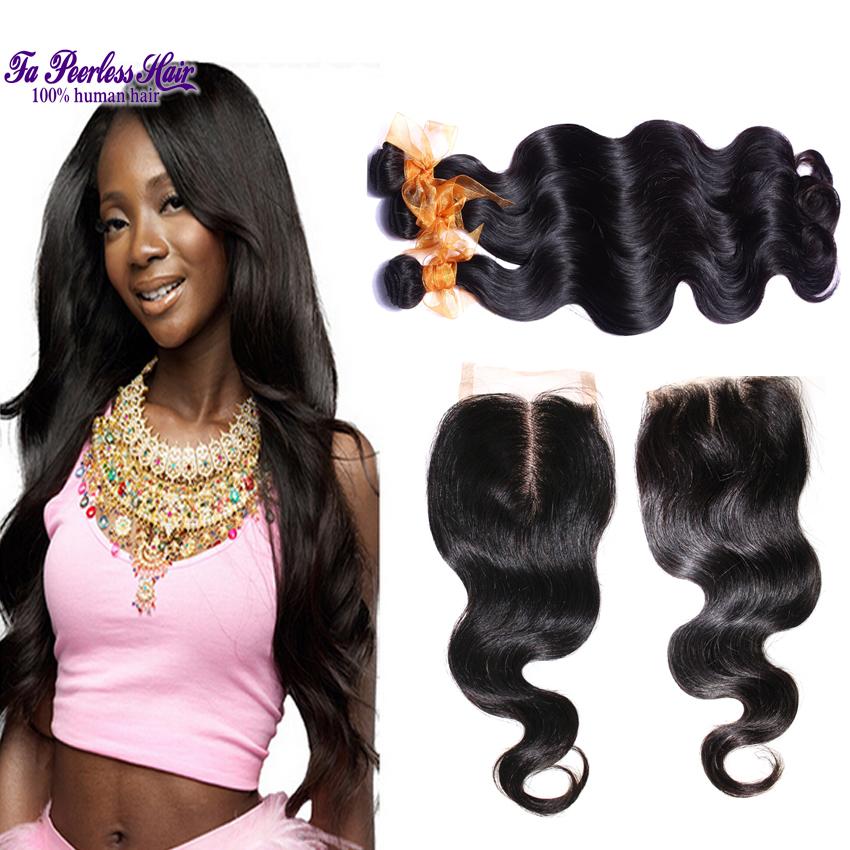 Гаджет  Queen Hair Brazilian Body Wave With Closure 4Pcs Lot 7A Grade Brazilian Virgin Hair Body Wave With Closure 1B Hair With Closure None Волосы и аксессуары