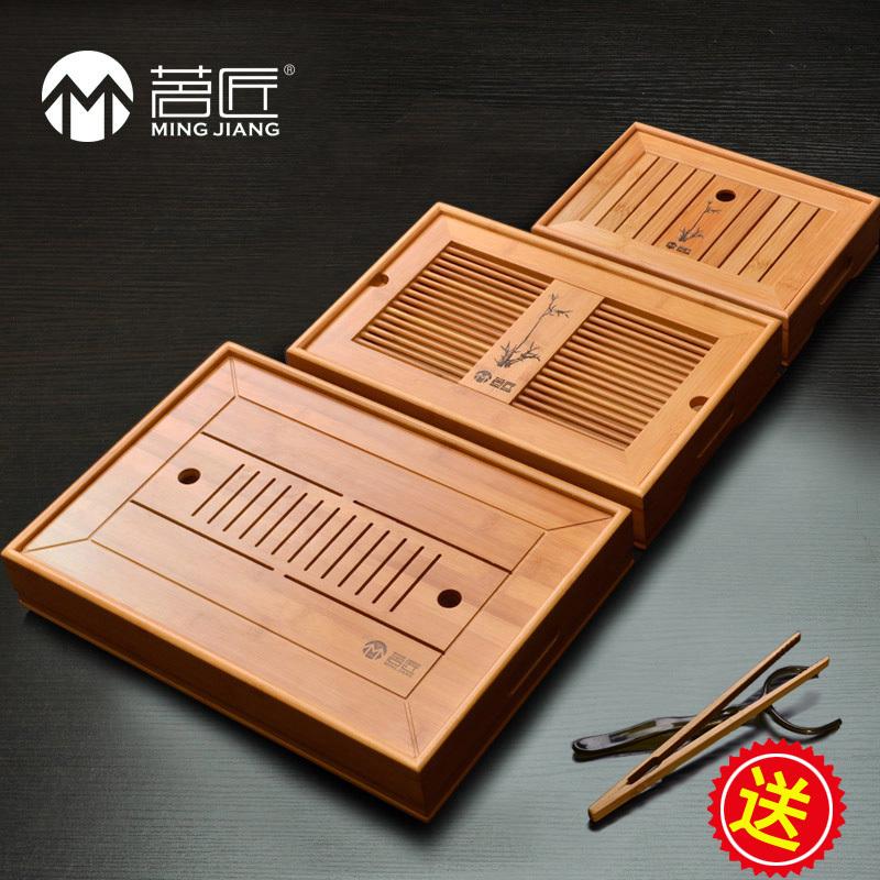 Bamboo tea tea sea water drainage type saucer dish suit size(China (Mainland))