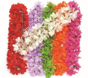 party supplies hawaiian flower lei garland/hawaii wreath cheerleading products artificial necklace 50pcs/lot 2116