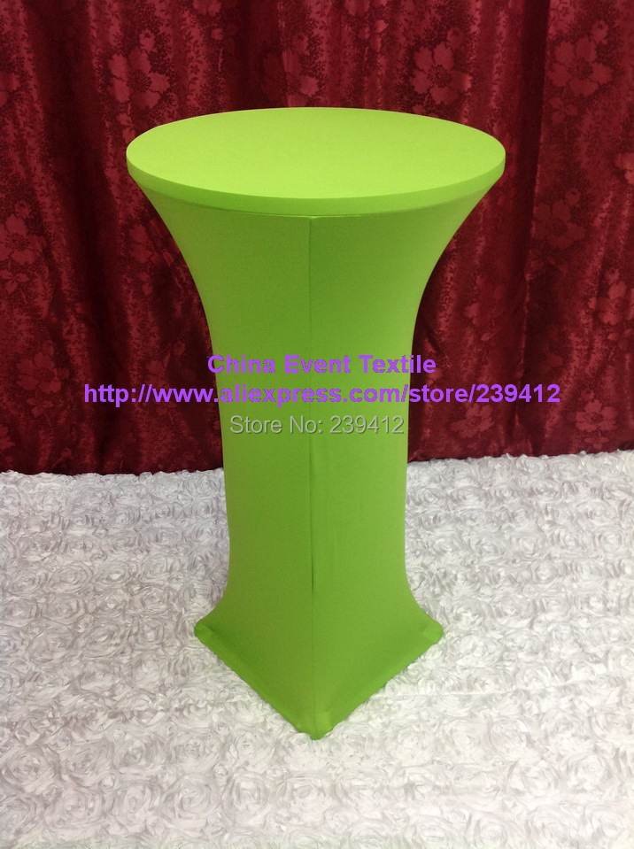 10pcs Extra Thicker #39 Apple Green Lycra Dry Bar Cover&Cocktail Table Cover for Weddings Events &Banquet &Party Decoration(China (Mainland))